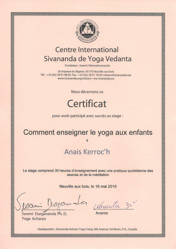 Certificat-YogaEnfants
